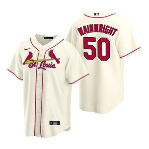St. Louis Cardinals Adam Wainwright Jersey Cream